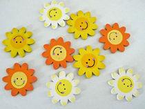 Lachende Sonnen - Smilies aus Holz von Eva-Maria Di Bella
