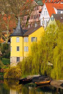 Gelber Hölderlinturm in Tübingen von Matthias Hauser