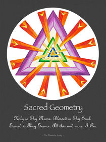 Sacred Geometry - Full-Color Poster w/msg by themandalalady
