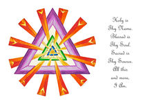 Sacred Geometry - Full-Color Card w/msg by themandalalady