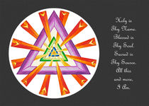Sacred Geometry - Full-Color Card w/msg - Grey by themandalalady