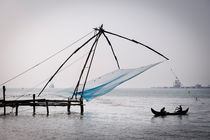 Chinese fishing nets in Fort Kochi. by Tom Hanslien