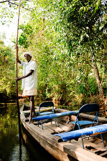 Kerela Backwaters Boatman. by Tom Hanslien
