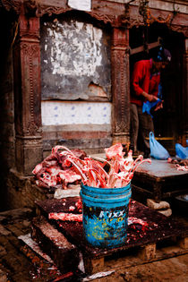 Abattoir in Bhaktapur, Nepal. by Tom Hanslien