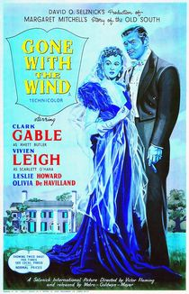 English poster of Gone with the Wind von Art Cinema Gallery