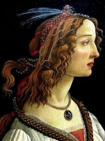Female portrait. Botticelli. von Maks Erlikh