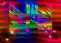 Grafisches Farbenspiel mit Kugeln by Eckhard Röder