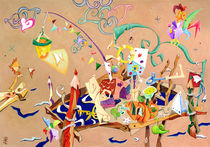 La Stanza dei Giocattoli - Crayon Art Collage - Livre pour Enfants von nacasona