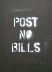 POST NO BILLS New York von Susanna Astikainen