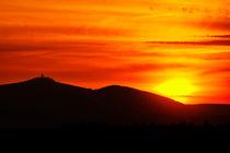 Brocken im Sonnenuntergang von Daniel Kühne