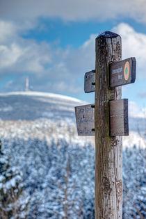 Blick zum Brocken im Winter von Daniel Kühne