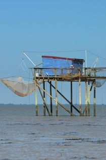 Fishing cabines in Charente Maritime, France von 7horses