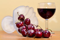 Red cherries and wine by 7horses