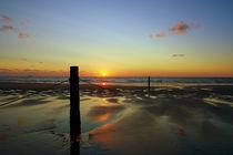 Sunset on a Northsea Beach von 7horses