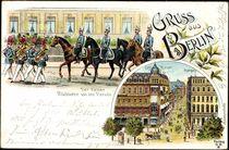 Litho Berlin, Der Kaiser, Rückkehr von Parade,Soldaten von arkivi