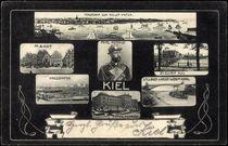Jugendstil Bild Kiel, Kriegshafen, Markt, Prinz Heinrich von arkivi