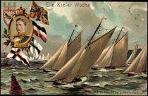 Litho Kiel, Kieler Woche, Prinz Adalbert, Wettsegeln by arkivi