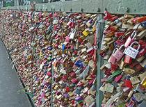 Liebesschlösser - Love locks von Eva-Maria Di Bella