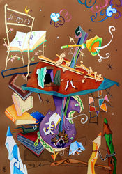 Musik-collage-orchester-konzert-kontrabass-violoncello