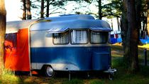 old school camping - campingurlaub alte schule by mateart