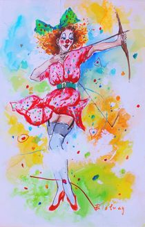 Clown Kathie by Barbara Tolnay