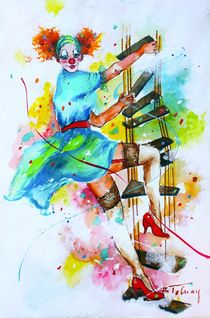 Clownesse Mimi by Barbara Tolnay