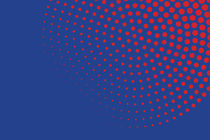 Red dots with blue background von Harry Hadders