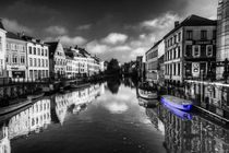 Reflections of Gent with blue by Rob Hawkins