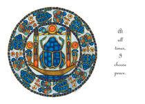 Resurrection Mandala Greeting Card von themandalalady