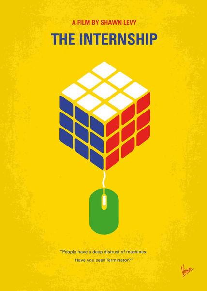 No215-my-the-internship-minimal-movie-poster