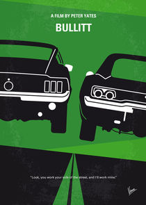 No214 My BULLITT minimal movie poster von chungkong