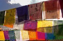 tibetan flags prayer by RS Photo