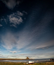 Big Sky over Lindisfarne Castle by Alan G. Mather