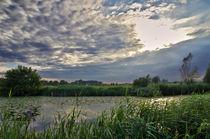 The Leie, river in Flanders, Belgium by 7horses