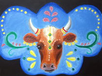 'Bollywood Cow' von Katri Ketola