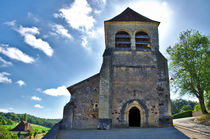 Old Roman church on the countryside in the Dordogne, France by 7horses