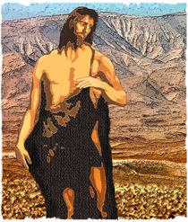 John the Baptist in the Jordan River Valley von Dale Bargmann