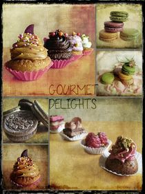 Gourmet Delights - collage by barbara orenya