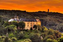 Schloss Blankenburg Harz im Sonnenuntergang von Daniel Kühne