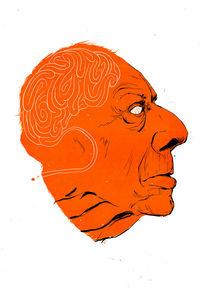 Jorge Luis Borges by Linus Nyström