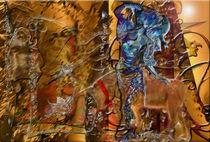 DAME mit GOLDENEM KALB von David Renson