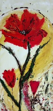 Blumenträume in Rot 1 von Heide Pfannenschwarz