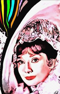 Audrey Hepburn in My Fair Lady by Art Cinema Gallery