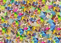 Abstraktes Farb und Formenspiel - Fische Fische von Eckhard Röder