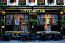 Nick's London Pub von David Pyatt