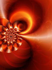 Geometrie orange von Christine Bässler