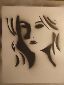 Noir Actress Stencil by Justin Latimer
