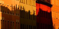 colored shadowed houses in the sunlight - farbenfrohe Häuser in Schatten und Sonnenlicht by mateart