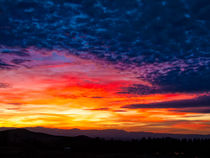 Sunset over the Yolla Bollies by Kathleen Bishop