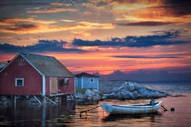 Last Light at Peggy's Cove von Randall Nyhof